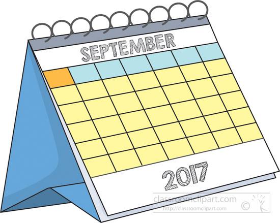 September Calendar Clipart : Calendar clipart desk september test