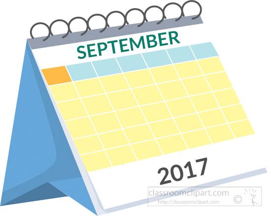 September Calendar Clipart : Calendar desk september white clipart