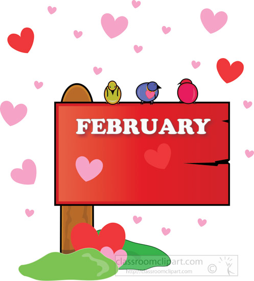 February Clipart New Calendar Template Site