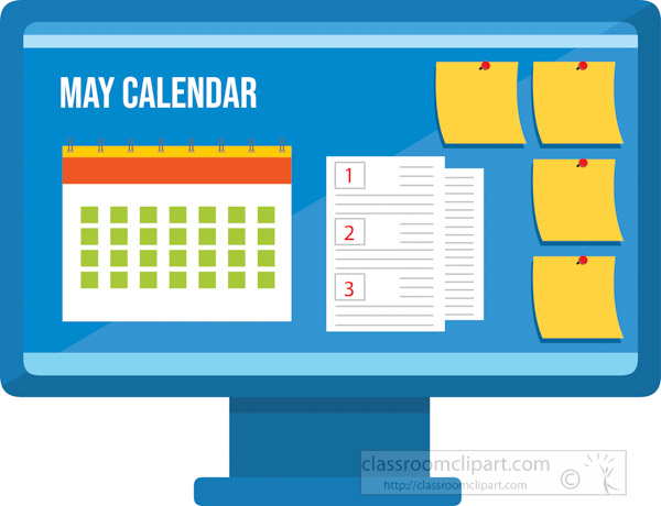 may-calendar-with-post-notes-on-computer-screen-clipart.jpg