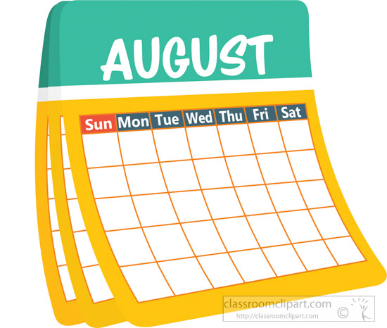 August Calendar Clipart : August clipart pixshark images galleries with