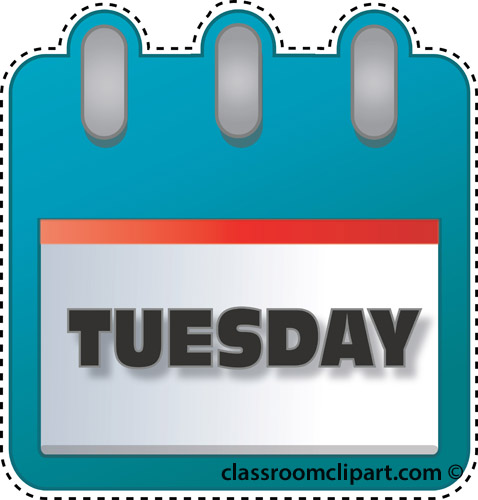 Calendar : notebook_tuesday : Classroom Clipart