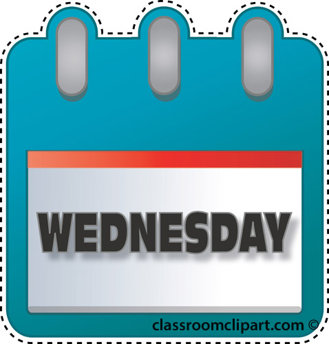 Calendar Clipart Notebook Wednesday Classroom Clipart