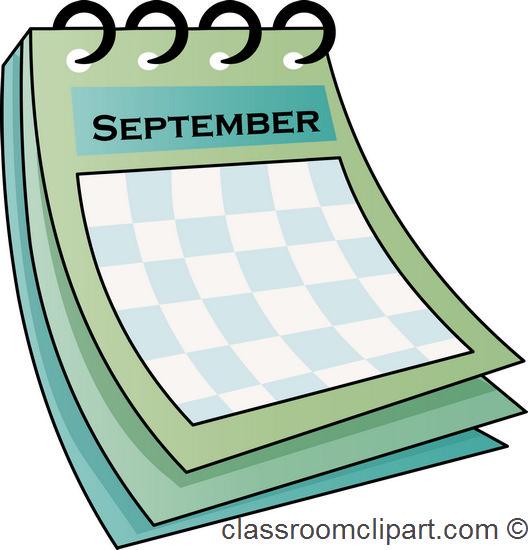 September Calendar Clipart : Gallery september calendar clipart