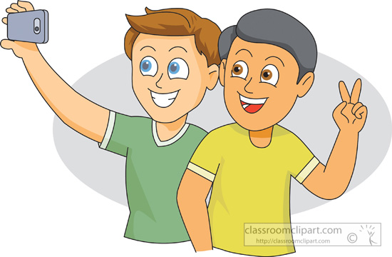 Camera Clipart- two-friends-taking-a-selfie_01 - Classroom ...