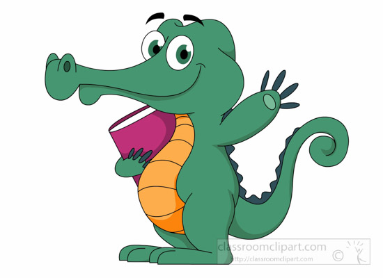 Cartoons : crocodile-character-standing-and-waving-holding ... - photo#18