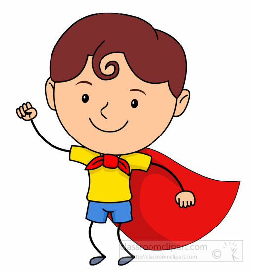 cartoons clipart cute child wearing superhero costume clipart rh classroomclipart com child clip art black and white child clip art images