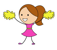 search results for cheerleader clipart clip art pictures rh classroomclipart com Graduation Clip Art free cartoon cheerleader clipart images