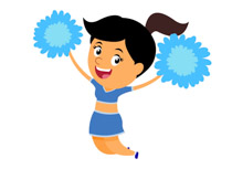 free cheerleading clipart clip art pictures graphics illustrations rh classroomclipart com clipart images of cheerleaders clip art cheerleader pom poms