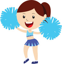 free cheerleading clipart clip art pictures graphics illustrations rh classroomclipart com clipart cheerleaders free clipart cheerleader bow