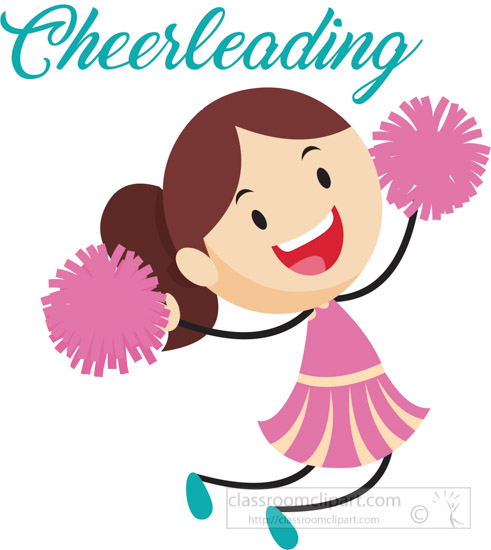 free cheerleading clipart clip art pictures graphics illustrations rh classroomclipart com clipart cheerleaders free clipart of cheerleaders silhouette