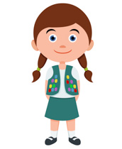 Clip Art Kid Clipart free children clipart clip art pictures graphics illustrations girl scout leader in uniform size 81 kb