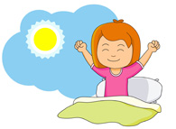 free children clipart clip art pictures graphics Cartoon Girl Waking Up picture of a girl waking up clipart