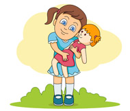 Girl With Doll Clipart Playing With Dolls Clip Art