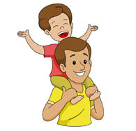 Clip Art Father Clipart search results for father pictures graphics happy son sitting on fathers sholder clipart size 60 kb from children