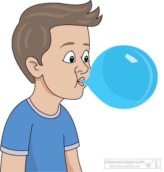 Children : boy-blowing-bubblegum-clipart-5183 : Classroom Clipart