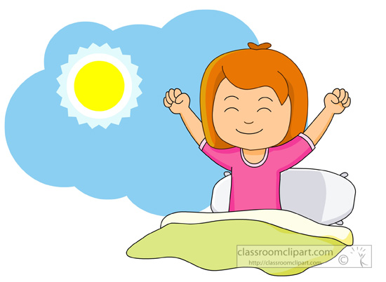 Download girl-waking-up-and-stretching-in-the-morningClipart Boy Waking Up In The Morning