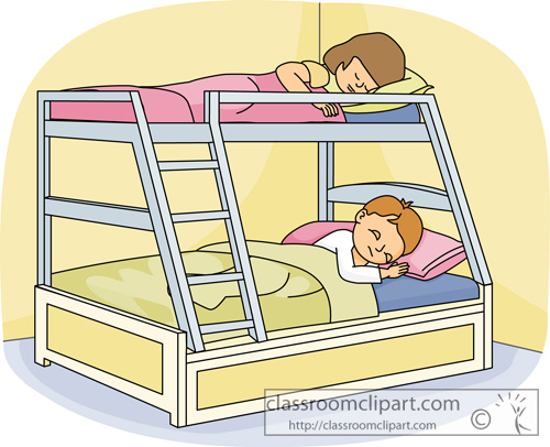 Two Bunk Beds In Small Room