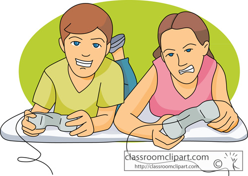 Kids Playing Games Clip Art Boy playing video games on