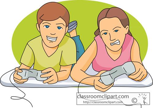 Kids Playing Games Clip Art Children