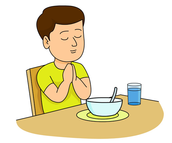 christian clipart clipart boy praying at dinner table classroom rh classroomclipart com picture of boy praying clipart boy praying clipart black and white