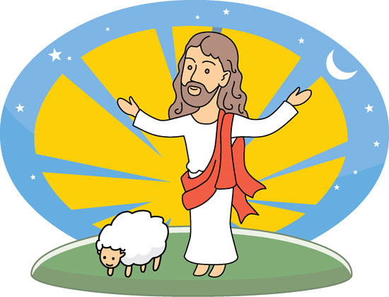 clipart of jesus with sheep - photo #1