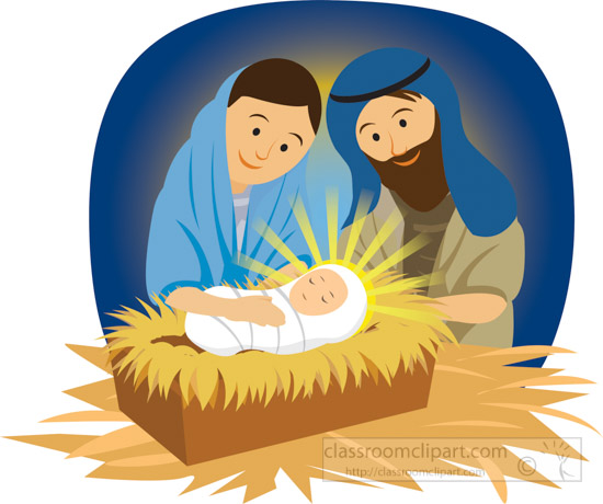 free clipart of baby jesus in a manger - photo #19