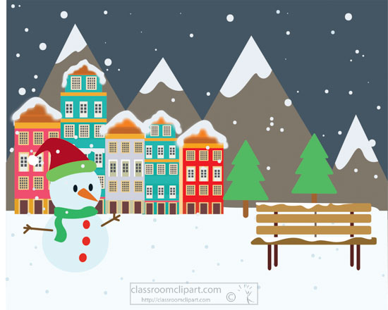 christmas-town-falling-snow-with-snowman-parkbench-clipart.jpg