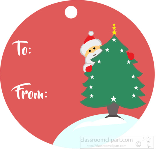 Christmas clipart clipart round gift tag with santa claus round gift tag with santa claus christmas tree negle Image collections