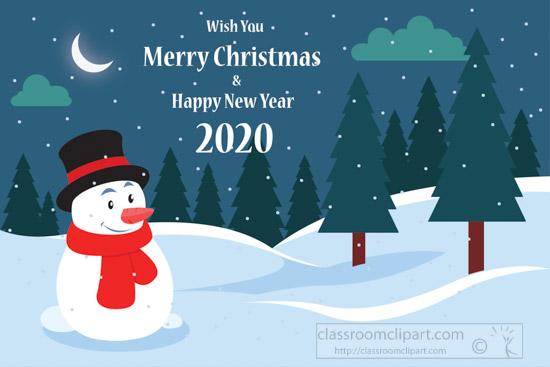 snowman-trees-in-background-night-scene-merry-christmas-2020-clipart.jpg