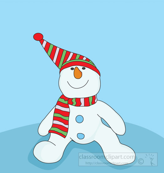 snowman-wearing-red-green-scarf-blue-background-clipart-08R.jpg