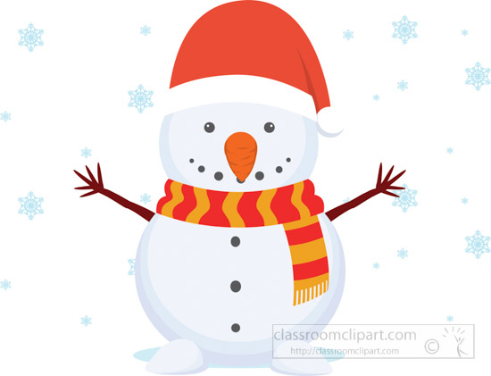 snowman_wearing_xmas_hat_christmas_clipart.jpg