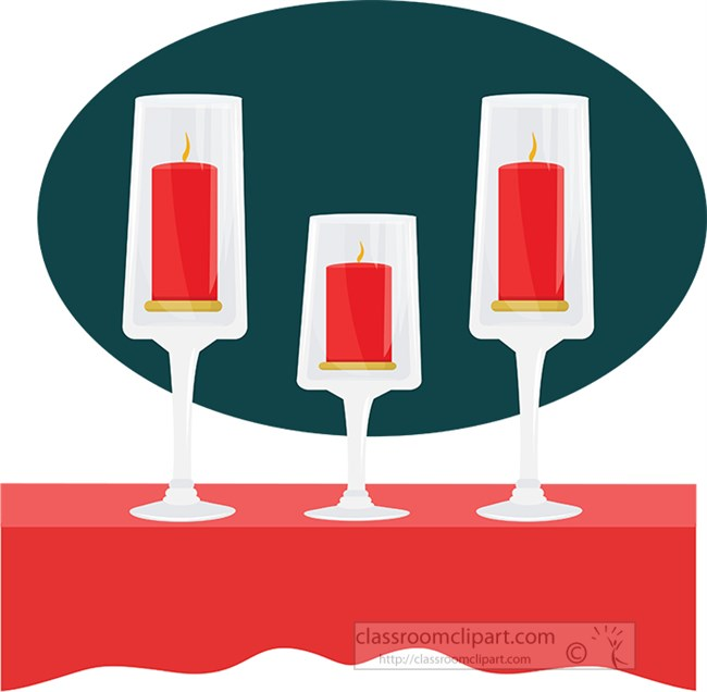 three red chirstmas candles clipart.jpg