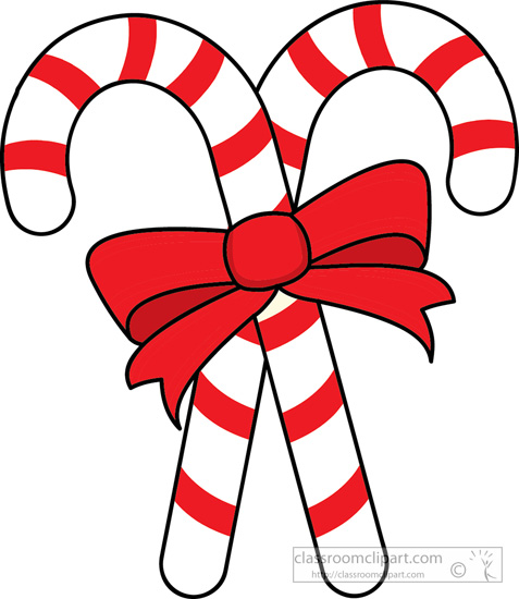 christmas clipart clipart two candy canes red ribbon clipart rh classroomclipart com candy cane clipart black white candy cane clip art