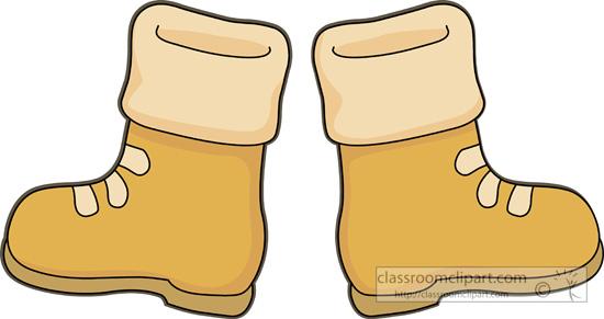 Kids Snow Boots Clipart