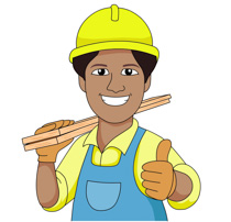 Clip Art Clipart Construction free construction clipart clip art pictures graphics carpenter wearing hard hat carries wood planks size 115 kb