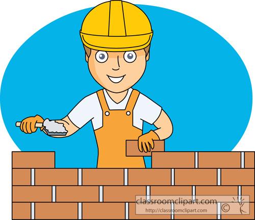 Building Construction Clip Art : Construction building brick wall
