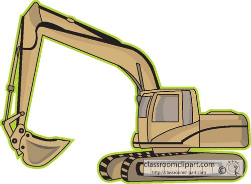 Construction : excavator_equipment_7 : Classroom Clipart