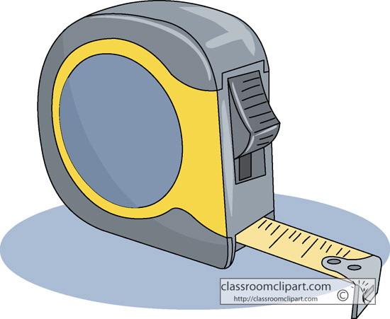 Construction Clipart- measuring_tape_1211r - Classroom Clipart