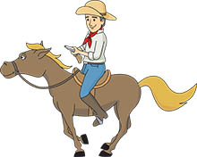 Free Cowboys Clipart - Clip Art Pictures - Graphics - Illustrations
