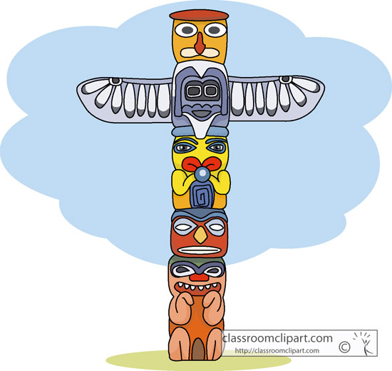 Raven Totem Pole Totem Pole Clip Art