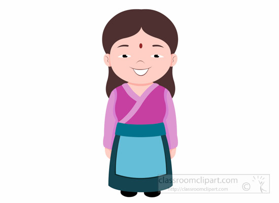 woman-in-nepalee-costume-nepal-asia-clipart-illustration-6818.jpg