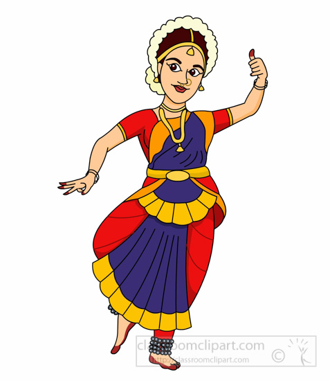 Bharatanatyam Indian Classical Dance Clipart Size 99 Kb From