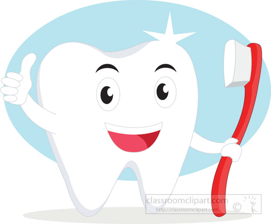 1 Toothed Cartoon Characters : Dental clipart cartoon tooth character thumbs up to clean