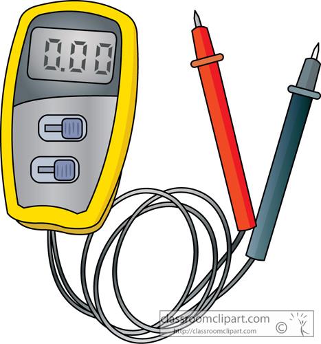Multimeter Clip Art : Electronics clipart voltmeter classroom