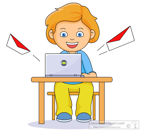 writing an email clipart