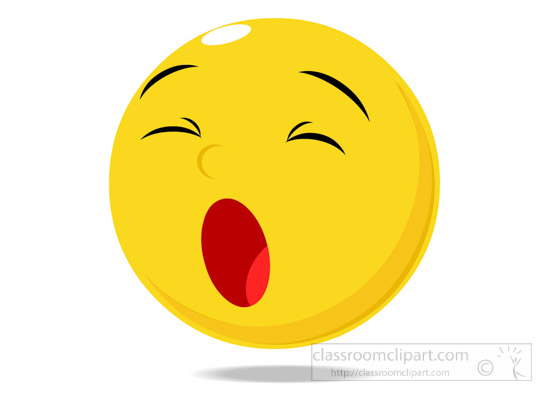 Emotions Clipart - Smily-Character-Yawning-Expression