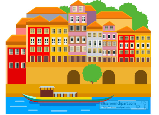 boat-in-front-of-colourful-coastal-building-of-portugal-clipart.jpg