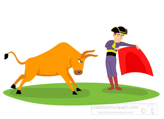 europe clipart bull running towards matador bull fight clipart 7116 rh classroomclipart com Matador Cartoon Matador Cartoon