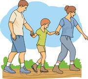 Family On A Hike 16 Size 97 Kb From